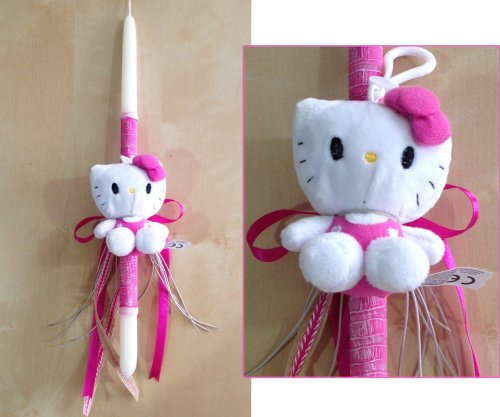 Λαμπάδα Φούξια Hallo Kitty 740007