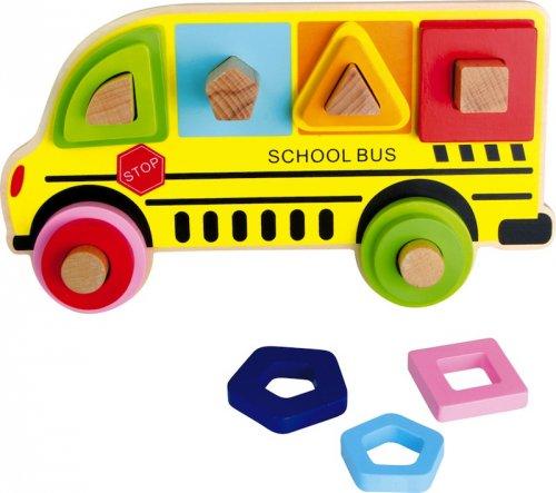 Παζλ Σχήματα σχολικό λεωφορείο Small Foot 4755