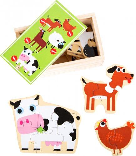 Κουτί με Παζλ «Τα ζώα της φάρμας» Small Foot 10547