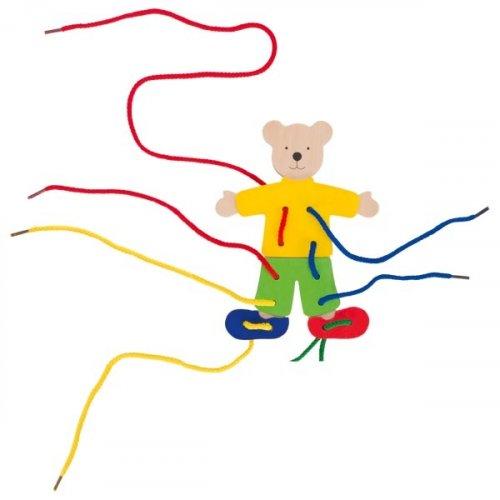 Ντύσε το αρκουδάκι - με κορδόνια Goki 58929
