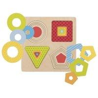 Παζλ Ξύλινα Γεωμετρικά Σχήματα  Goki 57705
