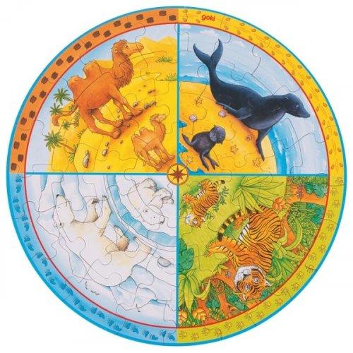 XXL Παζλ Τα ζώα της Γης Goki 57719