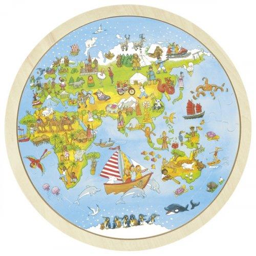 Παζλ, Το ταξίδι στον κόσμο Peggy Diggledey Goki 57479