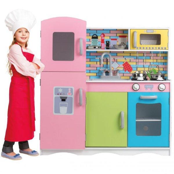 Μεγάλη Πολύχρωμη Κουζίνα Ecotoys TK038