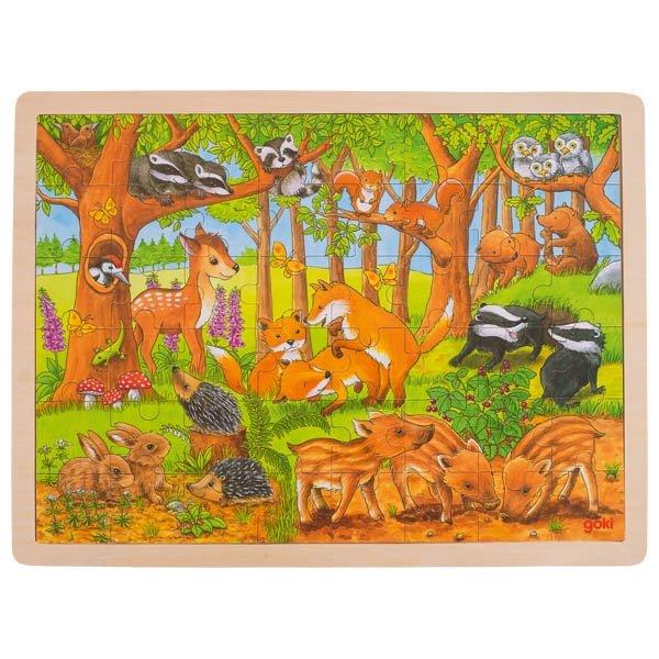 Παζλ Τα μικρά Ζωάκια του Δάσους Goki 57734