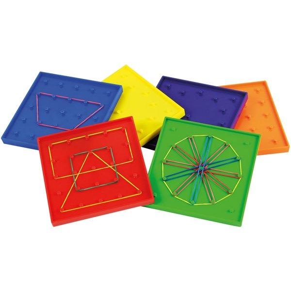 Γεωμετρικά σχήματα με λαστιχάκια Eduplay 120384