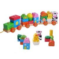 Τραίνο στοίβαξης με τουβλάκια Ecotoys 2031