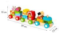 Τραίνο στοίβαξης με τουβλάκια Φάρμα Ecotoys 2036