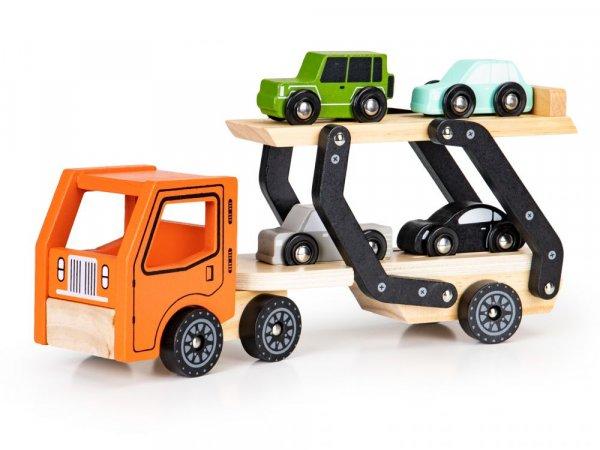 Ρυμουλκούμενο φορτηγό με 4 αυτοκίνητα Ecotoys 2244