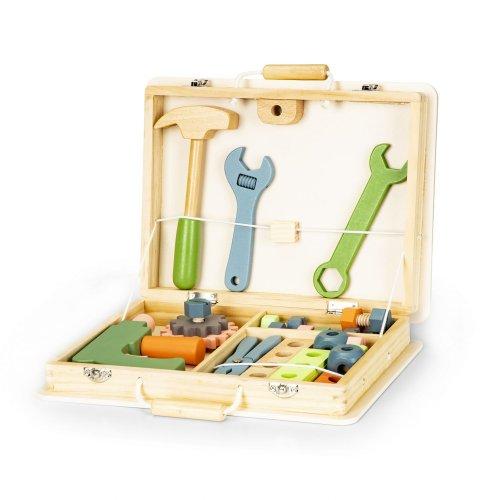 Σετ ξύλινων εργαλείων σε βαλιτσάκι Ecotoys 80014