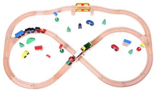 Σιδηρόδρομος με μπαταρία και 49 τεμ. Ecotoys 93664