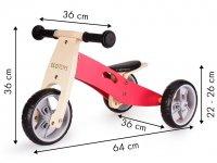 Ξύλινο Ποδήλατο Ισορροπίας Ecotoys BB-01 PINK