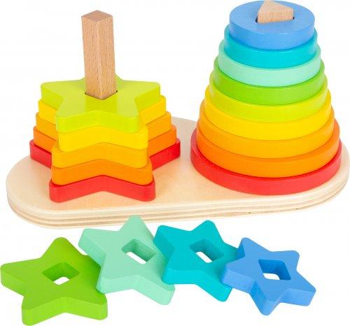 Στοιβάζω τα σχήματα Rainbow Small Foot 11720