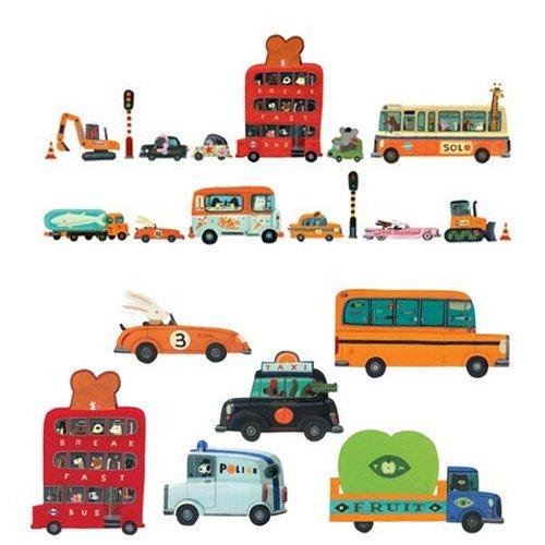 Djeco αυτοκόλλητα τοίχου οχήματα  04512