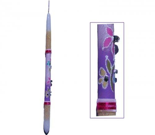 Λαμπάδα Λουλούδια Βελούδο 745014