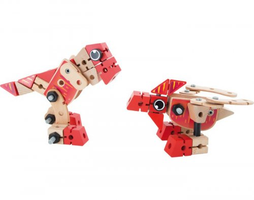 Ξύλινο Σετ κατασκευής 2 σε 1 Δεινόσαυροι Small Foot 7806