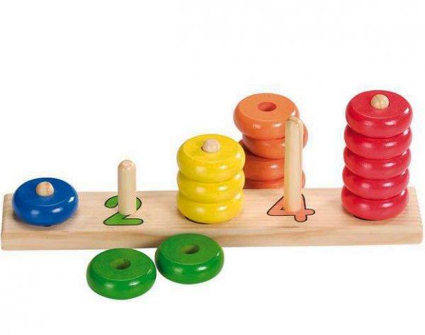 Μάθε να μετράς με ξύλινα δαχτυλίδια Goki 58941