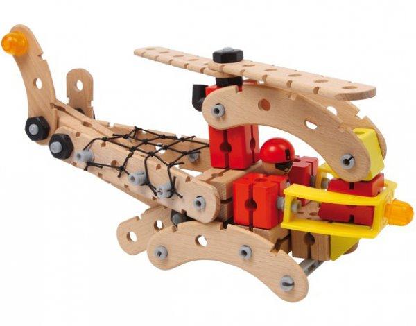 Ξύλινο Σετ κατασκευής Ελικόπτερο διάσωσης Small Foot 8358